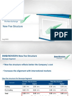 Presentation - New Fee Structure - August 2011