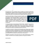 AGEO de 28.04.2009 - Carta aos Acionistas