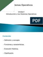Sistemas Operativos Unidad 1