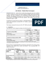 Notice to the Market - Market Data Convergence