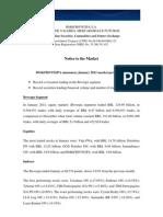 Notice to the Market - Market Performance - January 2011