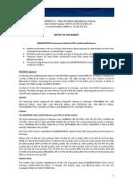 Notice to the Market - Market Performance - February 2012