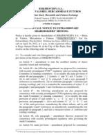 Extraordinary Shareholders' Meeting - 04.10.2012 - Call Notice (2nd Call)
