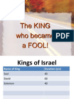 The King Who Became a FOOL