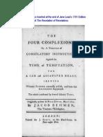 Jacob Behmen - The Four Complexions, Jane Lead Edition
