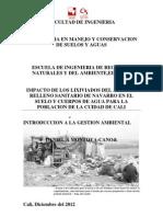 IMPACTO DE LOS LIXIVIADOS DEL ANTIGUO RELLENO SANITARIO DE NAVARRO EN EL SUELO Y CUERPOS DE AGUA PARA LOS HABITANTES DE LA CUIDAD DE CALI