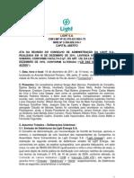 Minutes of Board of Directors Meeting 16 12 2011 - Issue of Debentures*