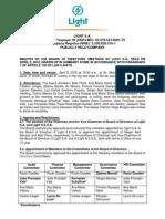 Minutes of Board of Directors Meeting 04 09 2010