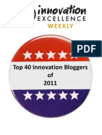 Top 40 Innovation Bloggers of 2011