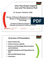 Konza Human Capacity Preparedness_ Konza Investment 2012