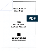 Rycom Model 6040 Selective Level Meter ~ Instruction Manual (030 00030 01), Third Edition, April 1992.