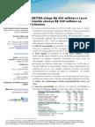 Press-release referente ao 1T12