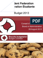 SFUO Budget Presentation to BOA - 2012-2013