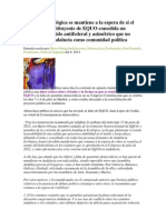 Andalucía Ecológica se mantiene a la espera de si el Congreso Constituyente de EQUO consolida un modelo de partido antifederal y asimétrico que no reconozca a Andalucía como comunidad política.docx
