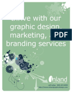 Inland Arts & Graphics Graphic Design, Branding, Marketing and Services Brochure for Joliet