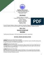 Council Agenda December 11, 2012