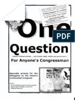 One Question for Anyone's Congressman