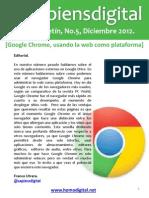 @Sapiensdigital, E-boletin, No. 5, Google Chrome, usando la web como plataforma