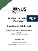 A0069681R Quantitative Report