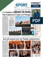 La Provincia Di Cremona 07-12-2012 - Calcio Lega Pro