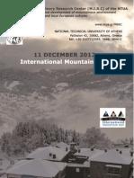 International Mountain Day 2012, N.T.U.A M.I.R.C