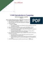 Cs101 Midterm Paper (Fall-2003)s1