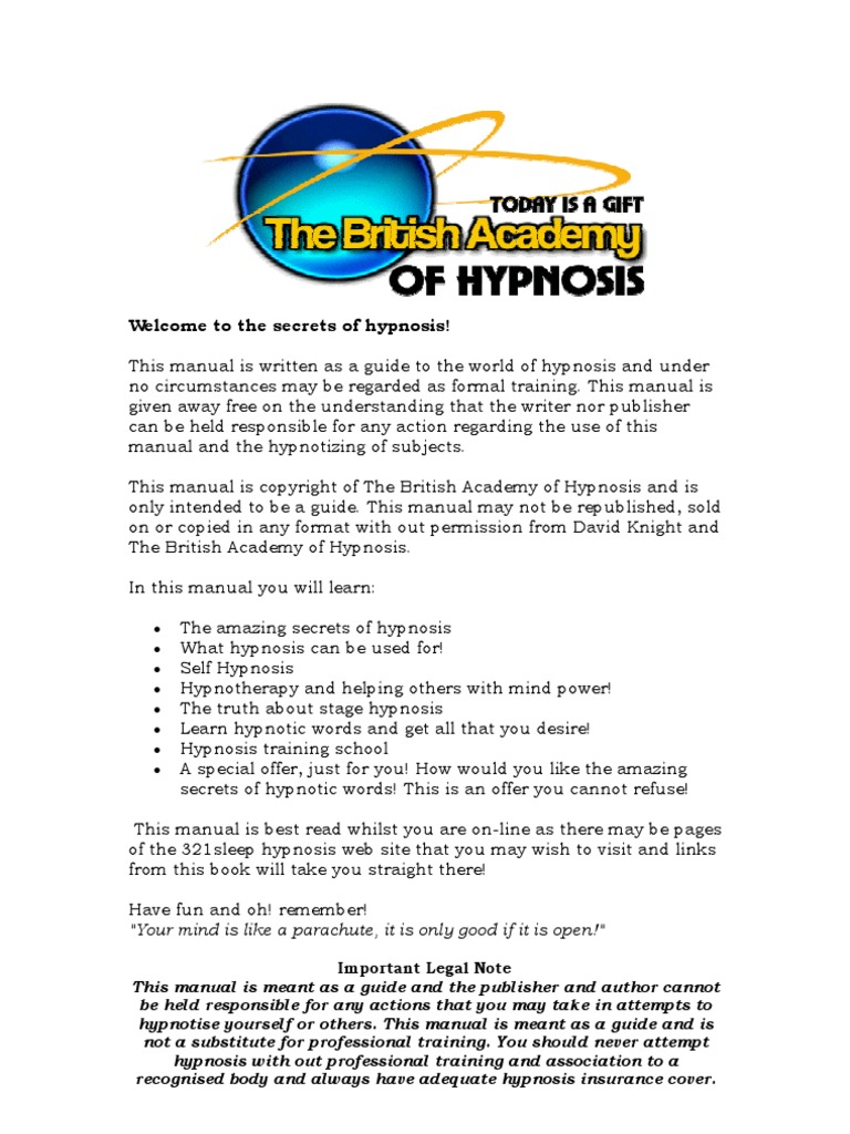 Secrets of hypnosis: how to introduce a person into a trance