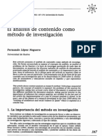 Analisis de Contenido Como Metodo de Investigacion