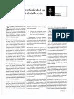 Jaquez, A El Caracter de Exclusividad en Los Contratos de Distribucion