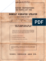 Dunlap Paint Sprayer Manual Model 73018450
