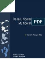 De La Unipolaridad a La Multipolaridad [CAEI]