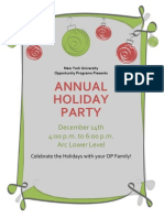 OP Holiday Party Flyer