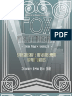 Fox First Night! Sponsorship & Advertisement Opportunities