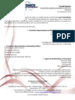 Carta de Servicios a Partidos, Comite Diectivos de Partidos Politicos