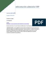 Curso de ambientación admisión UBP TPN1