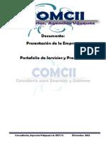 Presentacion de la Empresa Consultorías, Agencias Vázquez S.A. DE C.V.