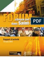 Rapport Forum citoyen sur la mixite dans Saint-Roch
