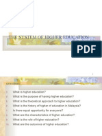 The System of Higher Education Ch 10