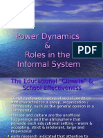 EDU453 Power Dynamics and Informal System