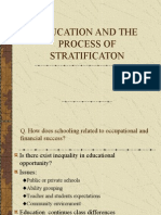Education and the Process of Stratificaton Ch 3
