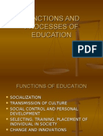 Functions and Process of Education Ch 2