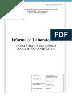 Informe N° 1  Química Analítica _II . 2012