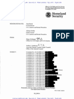 DHS memo on allegations of civil liberties violations by border and customs officers