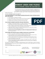 Green Jobs Pledge Packet