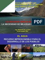 RECURSOS HIDRICOS EN EL PERÚ