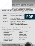 Wai'anae Access to Justice Meeting