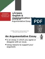 Writing an Argumentative Essay