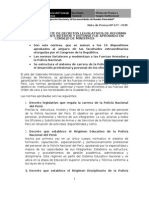 Segundo Paquete de Decretos Legislativos