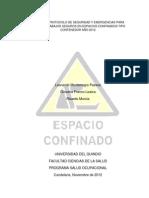 Protocolo de Seguridad y Emergencia Para Espacios Confinados Noviembre 2012