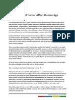 Sense of Humor Affect Human Age